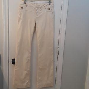 Gap Hip Slung Fit Cream Pants EUC